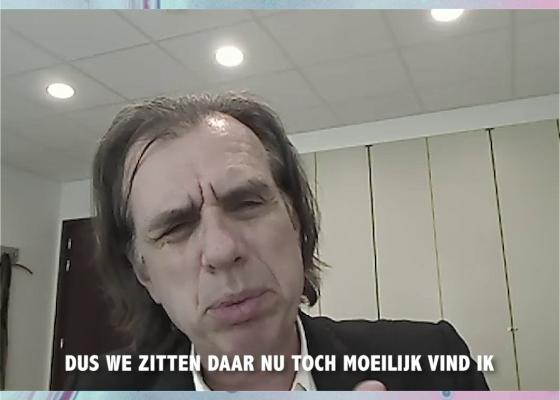 snapshot uit interview met Dirk De Wachter
